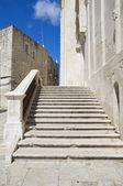 Giovinazzo Cathedral staircase. Apulia. — Stock Photo