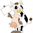 Royalty-Free Stock Vector Image: Funny dairy cow.
