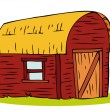 Wooden Barn house. — Stock Vector