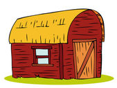 Wooden Barn house. — Stock Vector