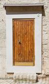 Wooden frontdoor. — Stock Photo