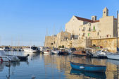 Giovinazzo touristic port. Apulia. — Stock Photo