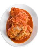 Vlees roulade in tomatensaus. — Stockfoto