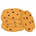 Pile of chocolate cookies. — Stock Vector