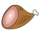 Cooked Ham. — Stock Vector