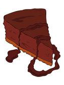 Dark Cheesecake slice. — Stock Vector