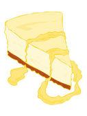 Tranche de gâteau au fromage. — Vecteur