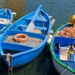 Stock Photo: Colorful Boats Lined Up.