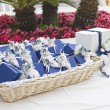 Wedding favors wicker. - Stock Photo