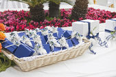 Wedding favors wicker. — Stock Photo