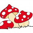Red poison mushrooms. — Wektor stockowy #3207763