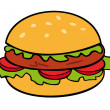 Hamburger. — Stock Vector