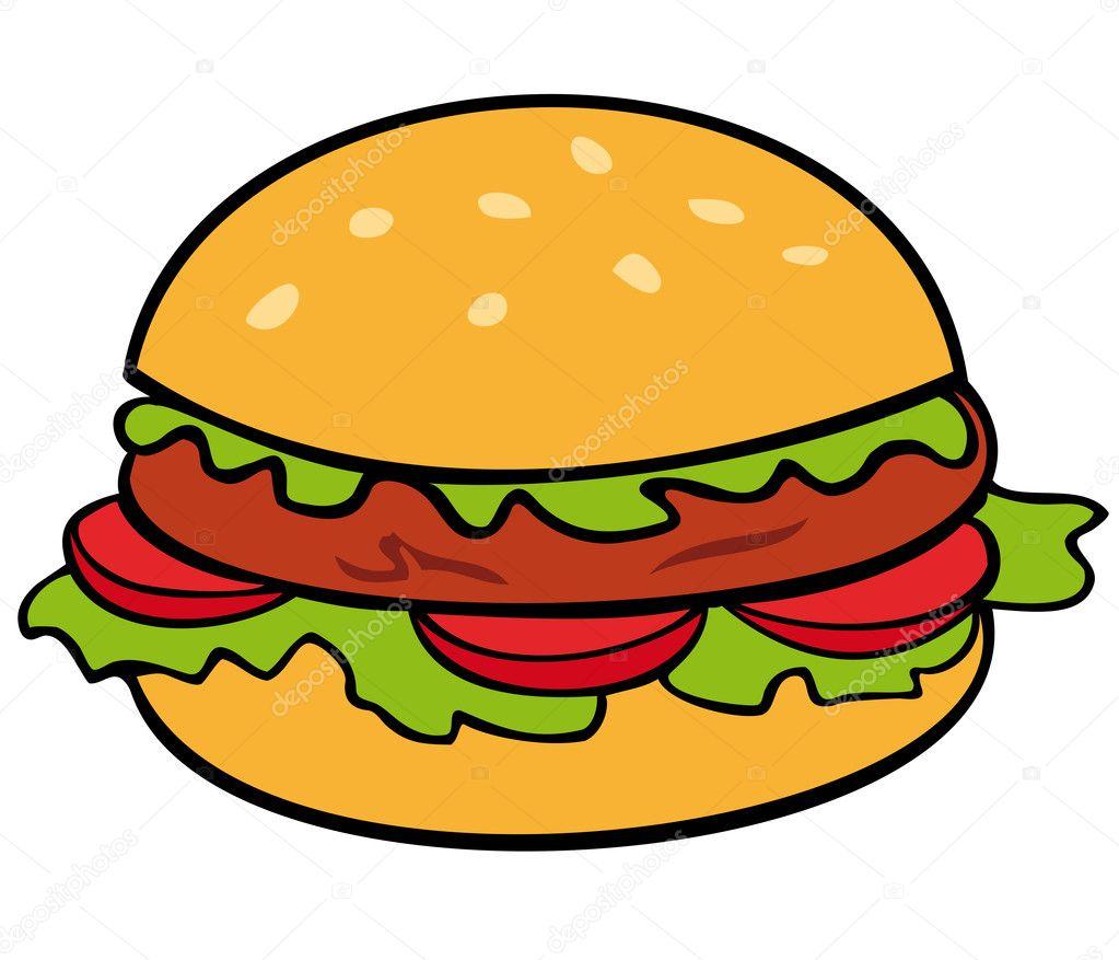 Рисованные гамбургеры