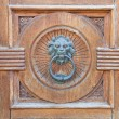 Royalty-Free Stock Photo: Lion Head Doorknocker.