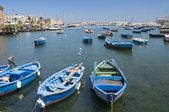 Boats in port. Bari. Apulia. — Stock Photo