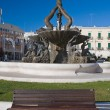Giovinazzo Square with fountain. Apulia. — Stock Photo