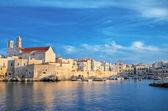 Giovinazzo touristic port. Apulia. — Stock Photo