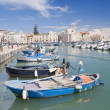 Boats moored in port. Trani. Apulia. — Stock Photo #3364198