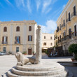 Mercantile Square and the Infamous Column. Bari. Apulia. - Stock Photo