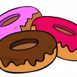 Donuts. — Stock Vector