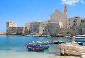Panoramic view of Giovinazzo. Apulia. — Stok fotoğraf