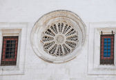 Rose window of Bari Cathedral. Apulia. — Foto de Stock