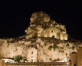 Madonna de Idris rock-church. Matera. Basilicata. — Stock Photo