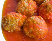 Meatballs in tomato sauce. — Stock Photo