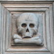 Portal with skull. Purgatory Church. Matera. Basilicata. — Stock Photo