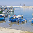 Boats moored at port. Monopoli. Apulia. — Stock Photo #3549894