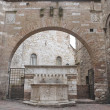 Historical fountain. Perugia. Umbria. — Stock Photo