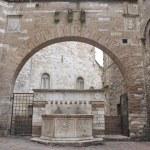 Historical fountain. Perugia. Umbria. — Stock Photo #3648999