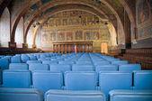 Notaries Hall Interior. Priors Palace. Perugia. Umbria. — Stock Photo