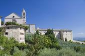 Basilica of St. Chiara. Assisi. Umbria. — Stock Photo