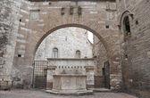 Historical fountain. Perugia. Umbria. — Stock Photo