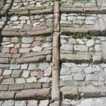 Antique pavement. Spello. Umbria. — Stock Photo
