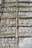 Pavement antique. spello. ombrie. — Photo