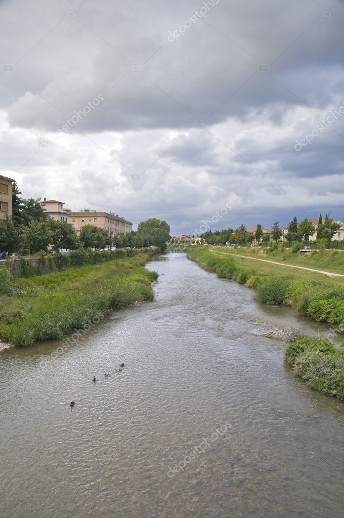 Topino River. Foligno. Umbria. — Stock Photo #3656349