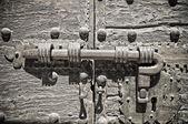 Antique door latch. — Stock Photo