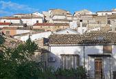 Panoramic view of Bovino. Apulia. Italy. — Foto de Stock