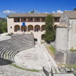 Stock Photo: RomTheater. Spoleto. Umbria.