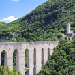 Bridge of Towers. Spoleto. Umbria. - Stock Photo