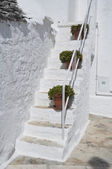 Close up of a Trullo Staircase. Alberobello. Apulia. — Stock Photo