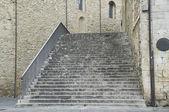 Konsül Sarayı merdiven. Bevagna. Umbria. — Stok fotoğraf