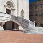 Consuls Palace Staircase. Gubbio. Umbria. — Stock Photo