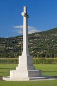 Monumentalny cmentarz. rivotorto. asyż. umbria. — Zdjęcie stockowe