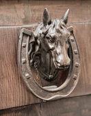 Doorknocker голова лошади. — Стоковое фото