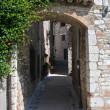 Alleyway. Corciano. Umbria. — Stock Photo