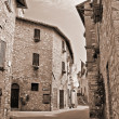 Stock Photo: Alleyway. Corciano. Umbria.