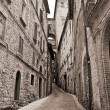 Alleyway. Perugia. Umbria. — Foto Stock